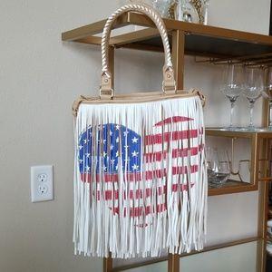 Steve Madden Fringe USA Bag (Brand New)